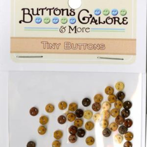 TINY BUTTONS – EARTHLY – approx. 40/pk (Copy)