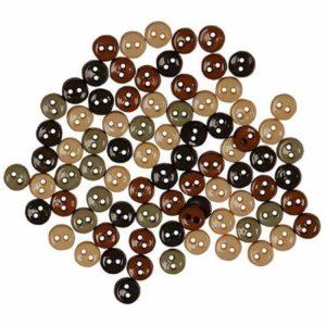 MINI NATURE Buttons, 75/pk