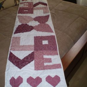 "BLD-007 – ""A TIME FOR LOVE"" Table Runner"
