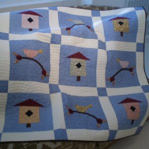 "BLD-026 – ""BIRDIE IN THE TREE TOP"" Lap Quilt"