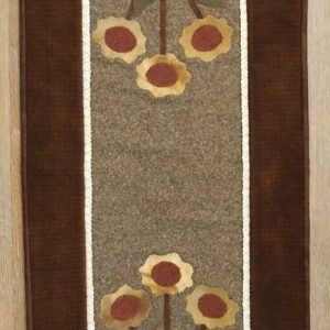 "BLD-035 – ""JUST BLOOM"" Table Runner in Wool Applique"
