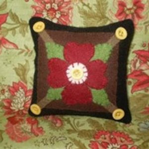 "BLD-014 – ""MY LITTLE POSY PIN CUSHION"" – Wool Applique"