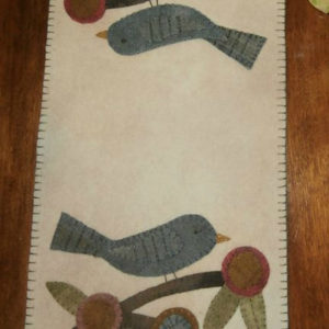 "BLD-002 – ""PENNY BLOSSOMS – Summer's Song""  Wool Applique Table Mat"