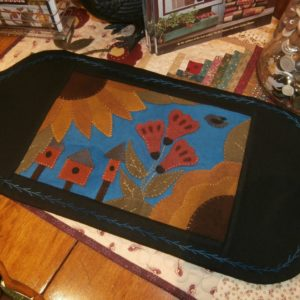 "BLD-011 – ""VINTAGE SUMMER'S DELIGHT"" Wool Applique table Mat"