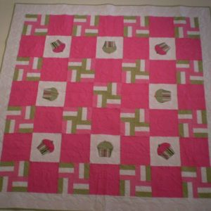 "BLD-009 – ""YOU & ME, CUPCAKES & TEA"" Table Topper Quilt"