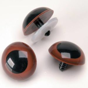 Animal Eye With Washers Brown 15mm   (Set of 2)