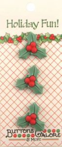 HOLLY & BERRY Buttons