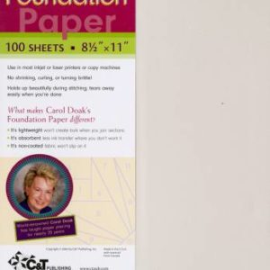 Carol Doak's Foundation Paper – 100 sheets – 8-1/2″ x 11″
