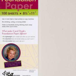 Carol Doak's Foundation Paper – 100 sheets – 8-1/2″ x 11″