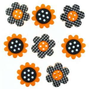 COUNTRY SUNSHINE Sunflower Button pack/8
