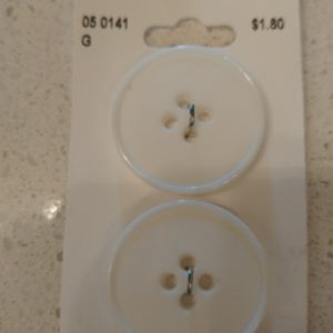 White buttons – 28mm (pack/2)