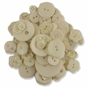 Haberdashery Button Pack – CREAM Assortment