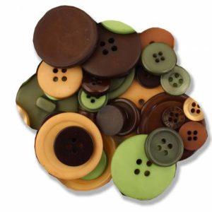 Haberdashery Button Pack – GREEN Assortment
