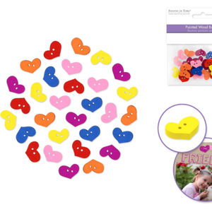 HEART Buttons – Package of 30