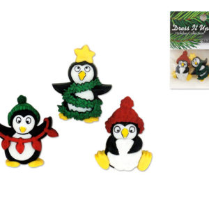 Holiday Penguins Buttons – Package of 3