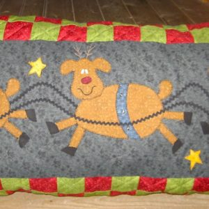 LOOKING FOR RUDOLPH  (Pillow or Wallhanging)