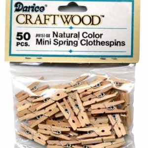 Mini Spring Clothespins (pk/50) – 1in (2.54cm)