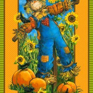 SUNNY DAYS Scarecrow Panel – 23″ x 44″