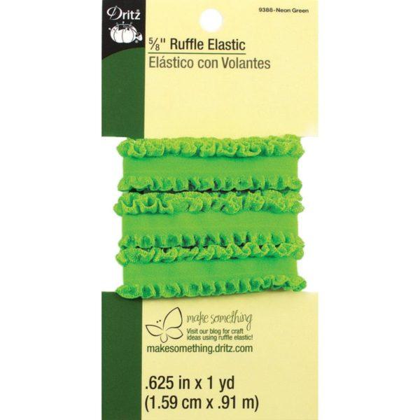 Ruffle Elastic – Neon Green