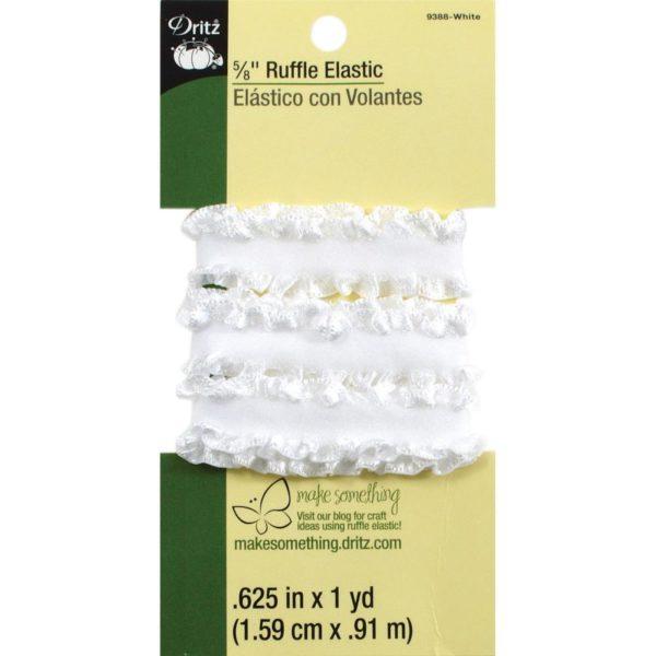 Ruffle Elastic – White