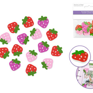 STRAWBERRY Buttons – Package of 15