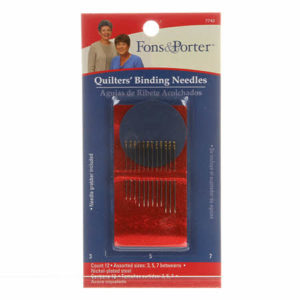 Fons & Porter Between / Quilting Binding Needles Assorted Sizes 3/7 12ct