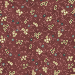 KEEPING YOU IN STITCHES – Rusty Red Floral